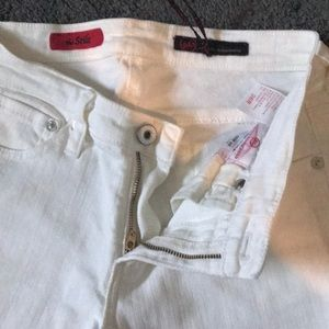 White AG Skinny Leg Jeans